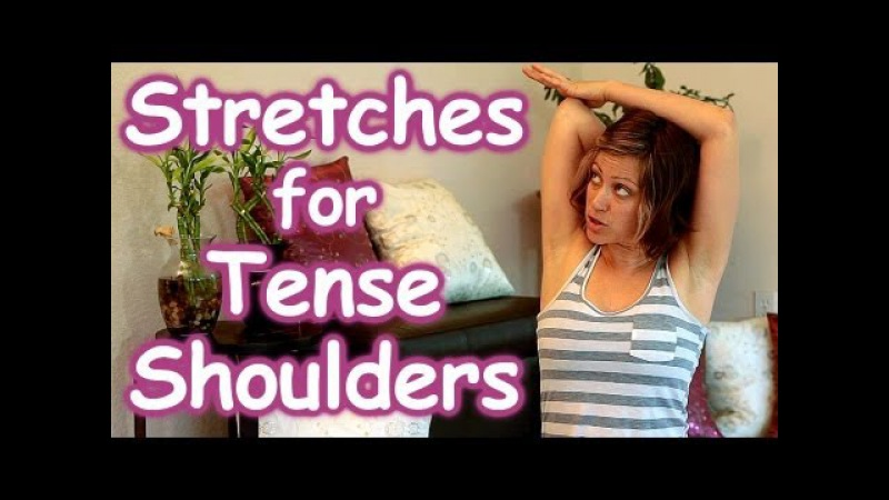 Stretches for Tense Shoulders Back Pain Relief, Beginners How to Routine, Safe Stretching Yoga