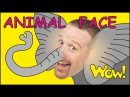 Animal Face for Kids MORE | Stories for Children | Steve and Maggie from Wow English TV