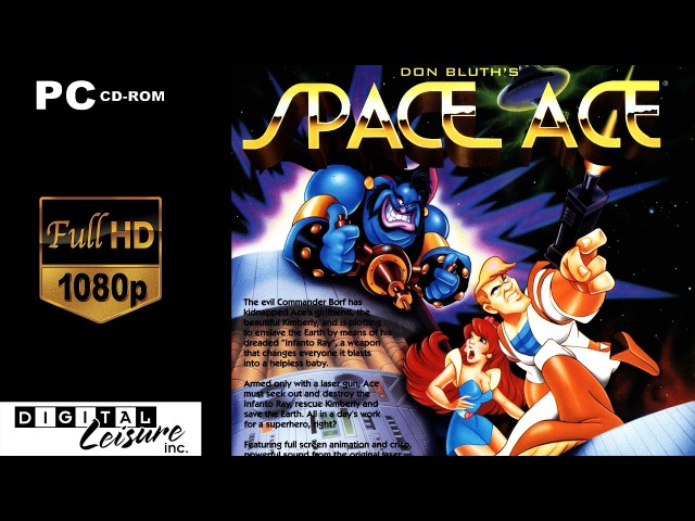 Space Ace Remastered / Космический Ас / Звёздный дозор   Полное прохождение