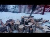 решили поколоть себе дров
