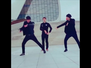 Наши танцуют в Баку лезгинку 2016