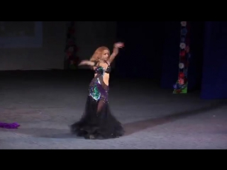 Veronica Fatin russian belly dance star. Belly dance perfomance at Gala show. 25