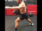 Kneeling Clean to Cossack Squat and Half Get Up Press! - 3 Reps each side - 6 Rounds