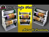 HOW TO : make a bangle stand | Best out of waste | DIY | Art with Creativity 188