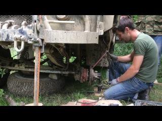 Сварка без сварочного аппарата. Заварили сломанный УАЗ в лесу имея держак электроды авто аккумулятор cdfhrf ,tp cdfhjxyjuj fggfh