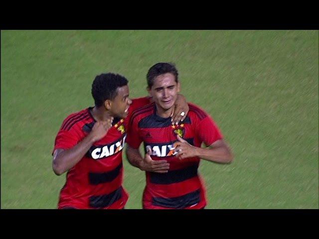 GOLAÇO 5º Gol do Sport, Everton Felipe: Sport 5 x 3 Santa Cruz - Brasileiro Série A 2016