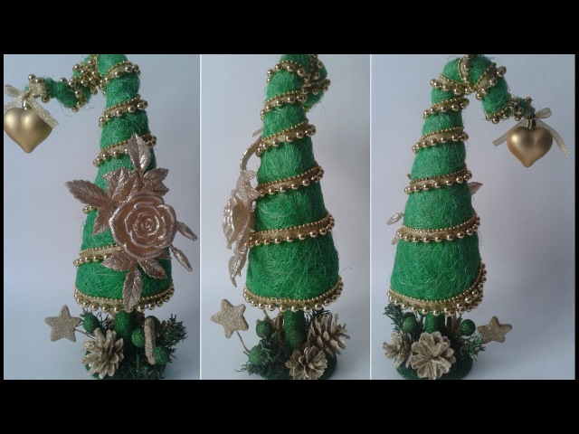 Ёлка из волокна сизаля своими руками/ Handmade Christmas tree/ Сама Я mk