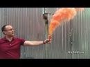 Дымовой фонтан оранжевый