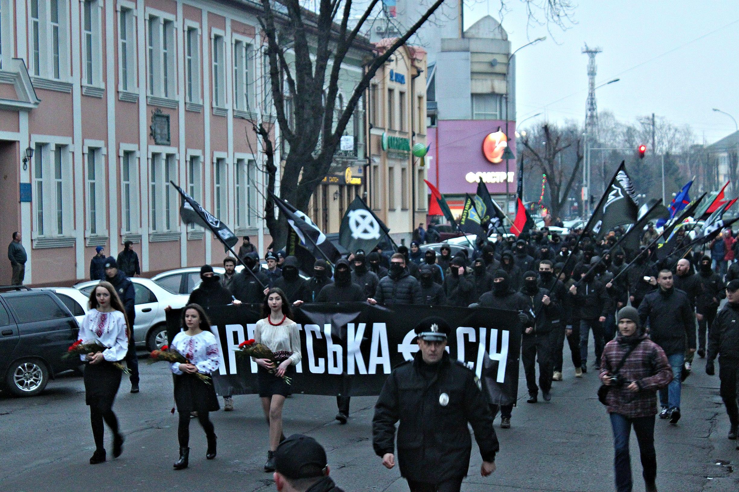 Karpatszka Szics felvonulása Ungváron, képanyag: 64 kép EvTpzvUyCpA