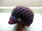 CROCHET How to #Crochet Newsboy Puff Stitch Hat #TUTORIAL #254 LEARN CROCHET