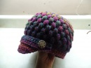 CROCHET How to Crochet Newsboy Puff Stitch Hat TUTORIAL 254 LEARN CROCHET