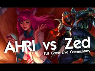 LOOK AT THE MOVES! - AHRI vs Zed - League of Legends