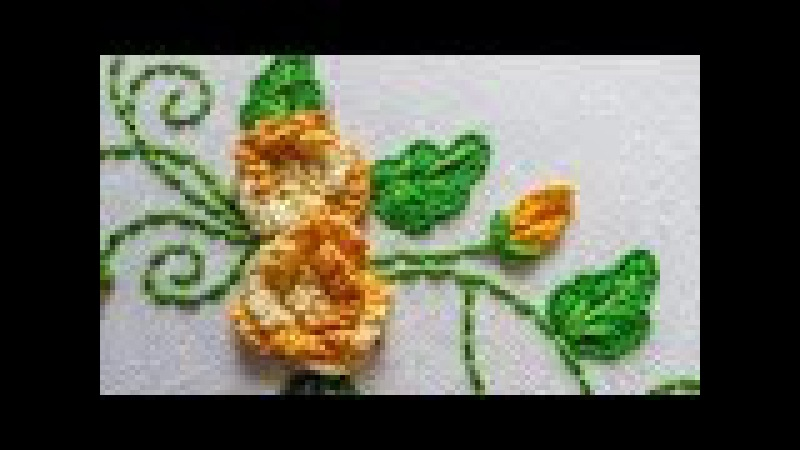 Embroidery Designs | Cast on Flower by hand | HandiWorks 67