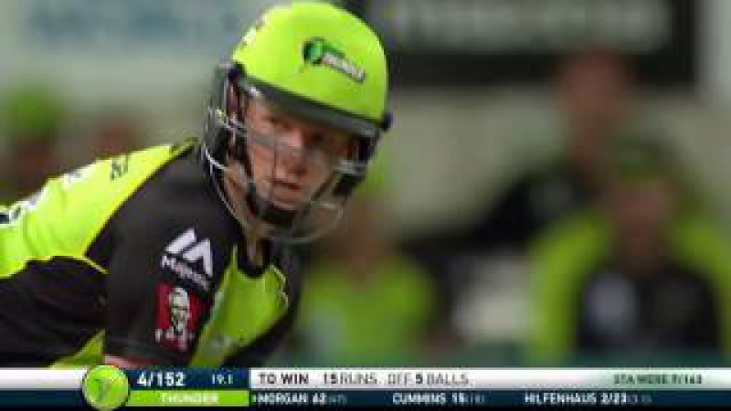 Last over exciting hit by Eoin Morgan! 15 runs in just 5 balls!