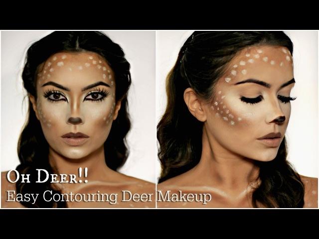 Easy Deer Makeup Tutorial   Halloween