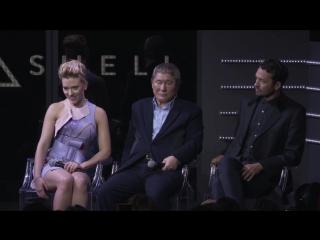 Большая презентация в Токио трейлера к фильму «Призрак в доспехах» (Ghost in the Shell)