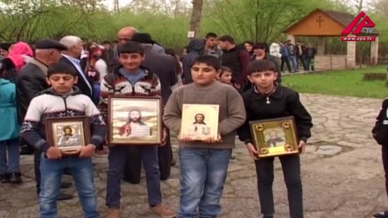 Живущие в поселке Нидже Кабалинского района, удины отметили праздник Пасхи