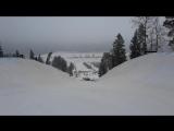 Хафпайп на Золотой долине- видео проезда с соревнований
