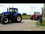 VS. Битва тракторов - New Holland T8030 vs К-701 Кировец