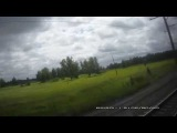 Россия из окна поезда.Новосибирск-Омск часть 4.