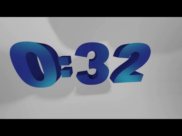 ФУТАЖ таймер 1 минута счётчик, обратный отсчёт