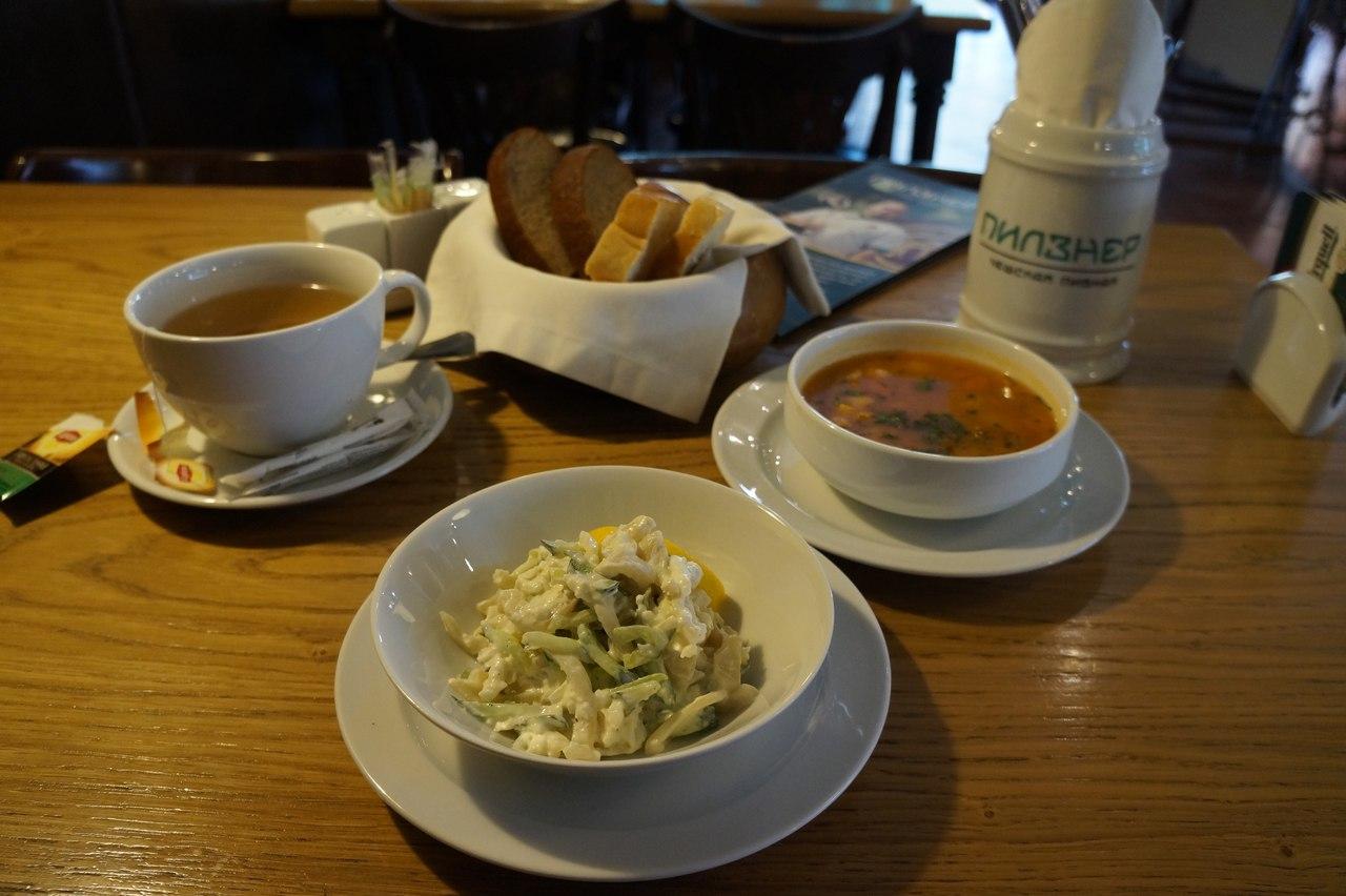 Ланчи в чешском пивном ресторане Пилзнер