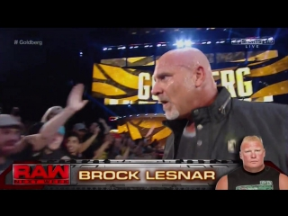 [ENG] WWE / RAW / 17/10/2016 - Full segment: Goldberg emerges in WWE for the first time in 12 years