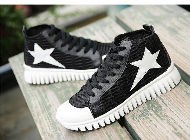 Унисекс Superstar Высокий Верх Холст Обувь Эспадрильи Весна Осень Все