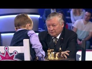 Матч века: трехлетний шахматист Миша Осипов героически сражается с чемпионом мира Анатолием Карповым