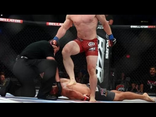 Bellator MMA Brandon Halsey Submits Alexander Shlemenko in 35 Seconds