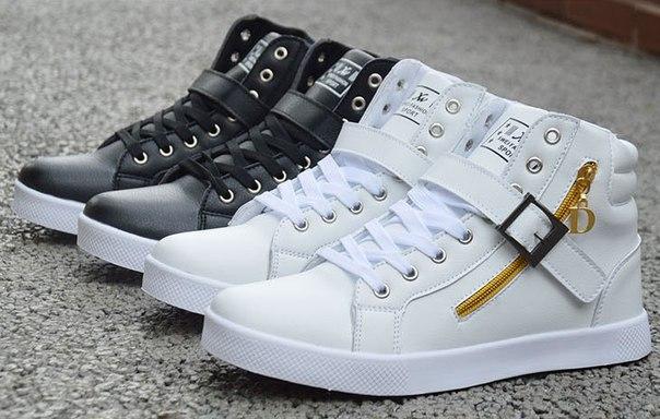 Повседневная Обувь Осень-Зима обувь Мода черный Белый Повседневная Выс