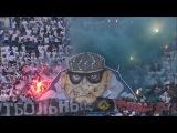 Фанаты Факела на матче с динамо