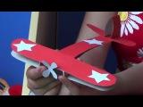 Как сделать самолет к 9 мая из бумаги ПРОФЕССОР_КАРАПУЗ