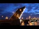 Развод Троицкого моста в Санкт-петербурге