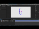 Dots to lines to letters - Adobe After Effects tutorial