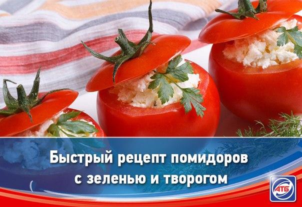Творог с зеленью и помидорами фото