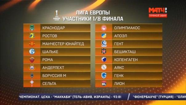 1 8 лига европы прогнозы
