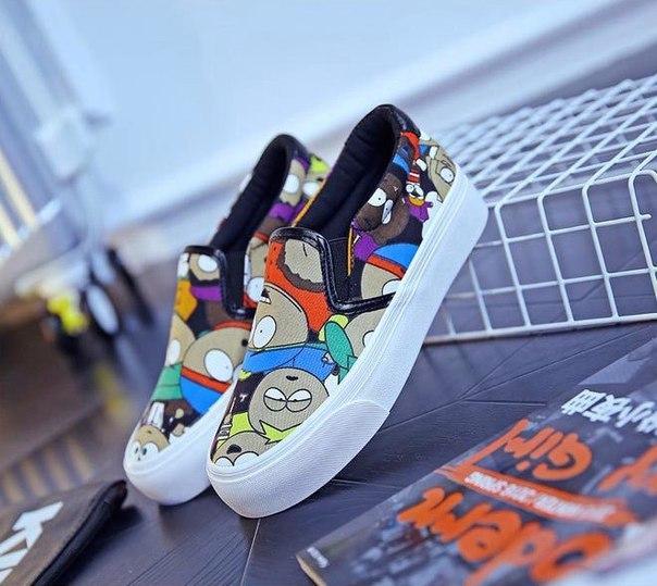 Слипоны с принтом из Южного Парка  https://goo.gl/K2WPrK  #одежда@ali_yeah  #обувь@ali_yeah