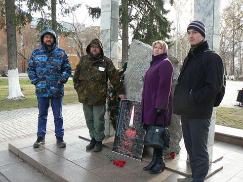В пикете, посвященному памяти событий в Одессе 2 мая, в Томске приняли участие 6 человек