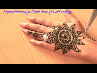 How to Make HENNA DESIGN MEHNDI FOR EID LEARN INDIAN PAKISTANI SIMPLE EASY MEHENDI DESIGN
