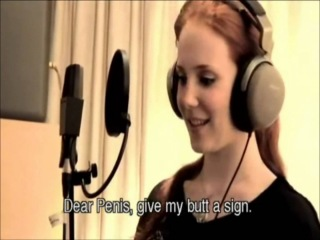 Simone Simons: dear penis, give my butt a sign.