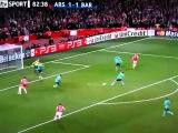 FC Arsenal 2 - 1 FC Barcelona. Arshavin Goal.