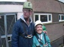 Doris Long and Chris Evans complete abseiling fundraiser