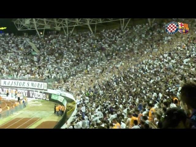 Hajduk - Barcelona - Val na Poljudu od 33000 navijača HD
