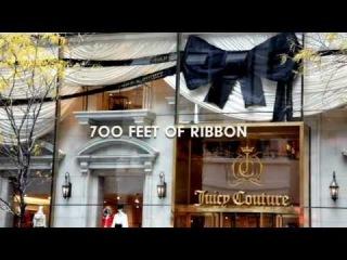 Новогоднее оформление магазина Juicy Couture