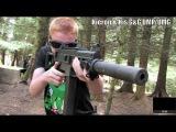 M14 EBR, ICS Galil, G&G M4, 1911 Pistol, AK-102 Airsoft War Section8 Scotland HD