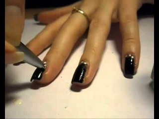 Маникюр с губкой эффект нарощенных ногтей High