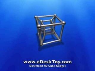4D Cube Desktop Gadget