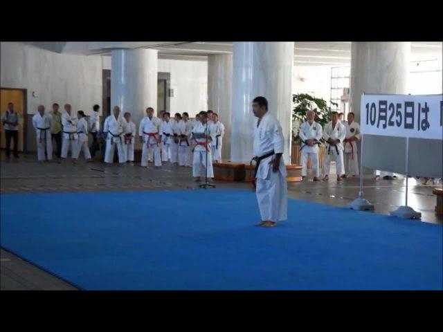 Uechi-ryu kata by Shimabukuro Haruyoshi sensei to celebrate 'Karate Day' in Okinawa.