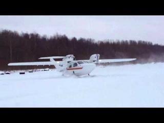 Взлет Л-44 на лыжах.wmv